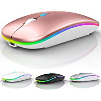 LED Bluetooth Wireless Mouse,Bluetooth Mouse for MacBook Pro,Bluetooth Mouse for MacBook Air,Rechargeable Wireless Mouse…