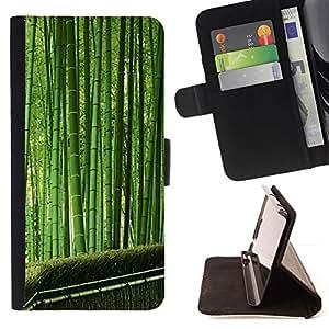 For Sony Xperia Z3 Compact / Z3 Mini (Not Z3) Case , Planta Naturaleza Forrest Flor 35- la tarjeta de Crédito Slots PU Funda de cuero Monedero caso cubierta de piel