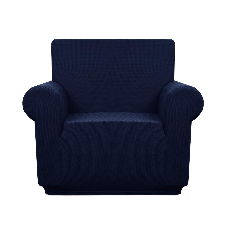 Granbest プレミアム撥水ソファカバー ハイストレッチカウチカバー スーパーソフト生地 カウチカバー Chair ブルー Chair ネイビーブルー B07J67YCHZ