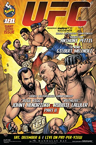 Pyramid America Official UFC 181 Comic Book Style Event Sports Poster 12x18 inch