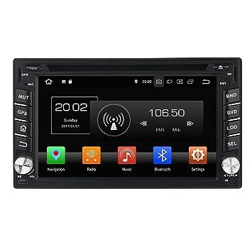 2din 6.2 Pulgadas Pantalla Táctil Capacitiva Coche Estéreo con GPS Navegación Android 8.0 OS para Nissan