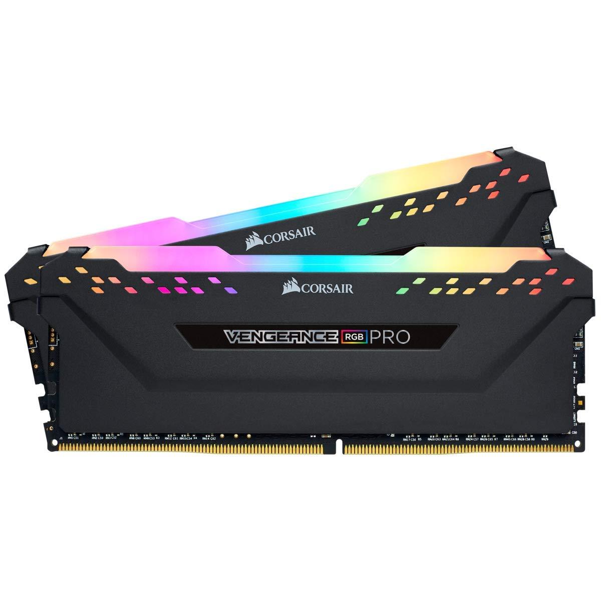 Memoria RAM 16GB Corsair Vengeance RGB Pro (2 x 8GB) 288-Pin DRAM DDR4 3000 (PC4 24000) CMW16GX4M2D3000C16