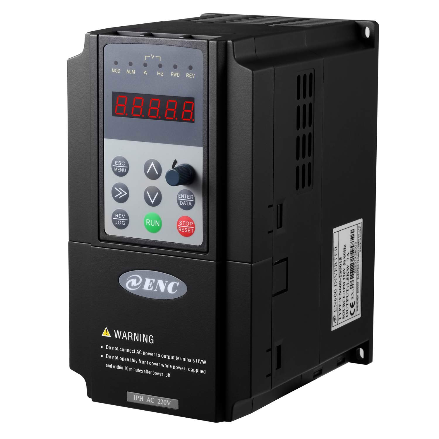 Litorange VF Control VFD 1 Single Phase 220V 1.5KW 2HP Variable Frequency Drive CNC VFD Motor Drive Inverter Converter for Spindle Motor Speed Control General Purpose.