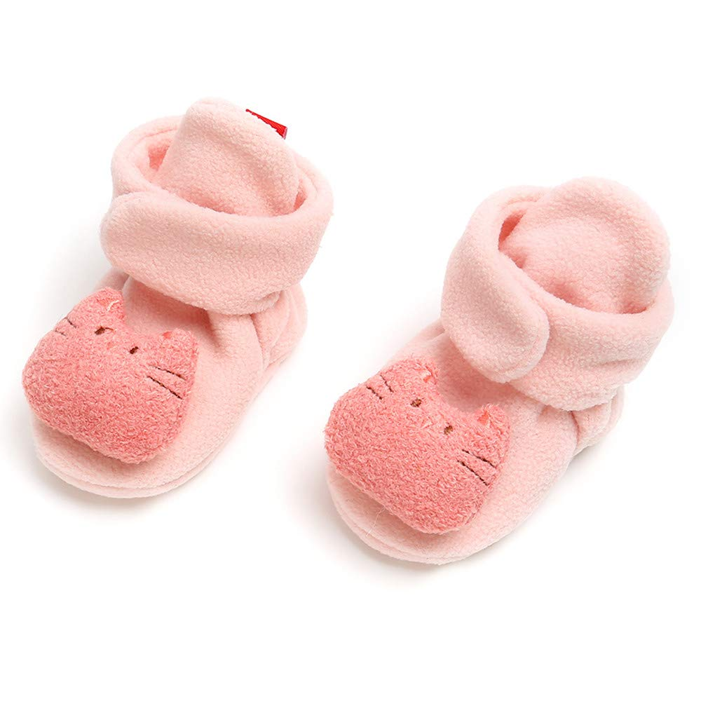 Voberry Baby Girl Cotton Shoes Keep Warm Shoes Fashion Toddler First Walkers Kids Shoes