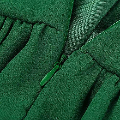 Taglie Chiffon Cerimonia Verde Vestito Donna Forti Lungo Zolimx Eleganti Cerimonia Lungo green Cerimonia Donna Solido Donna Lungo Estivi Abito Abito da Elegante Serata Abiti Lungo Donna Vestiti zqq4BwEZg