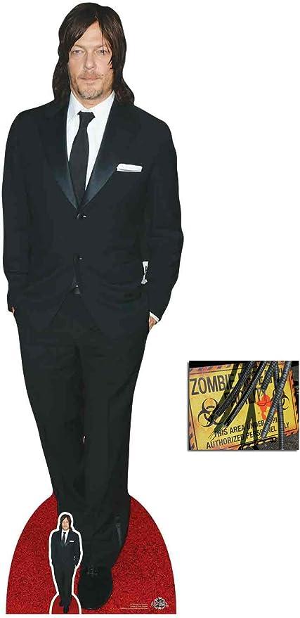 Norman Reedus Lifesize and FREE Mini Cardboard Cutout Standup Standee