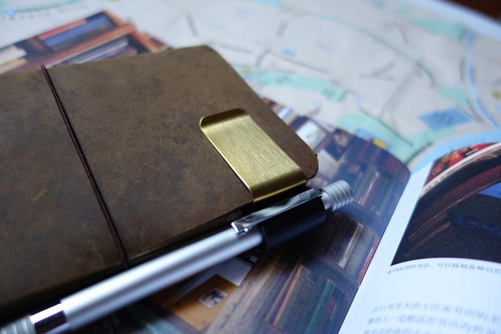 3 St/ückLederner Bleistift Halter Edelstahl Klipp f/ür Zeitschriften Notizbuch Planer Skizzenb/ücher