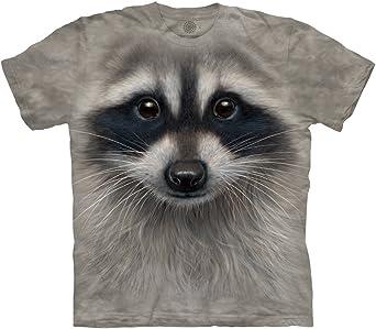 Short Sleeve Shirts Raccoon Happy Tee Shirt