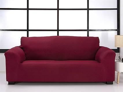 Belmarti Toronto - Funda sofa elástica Patternfit, 3 Plazas, color Lino