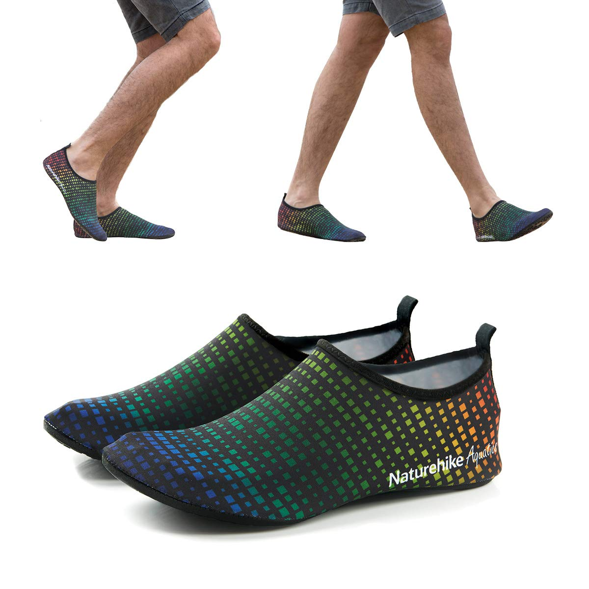 Womens and Mens True Color Digital Printing Water Shoes - Barefoot Quick-Dry Aqua Socks for Beach Swim Surf Yoga Exercise Water Sport