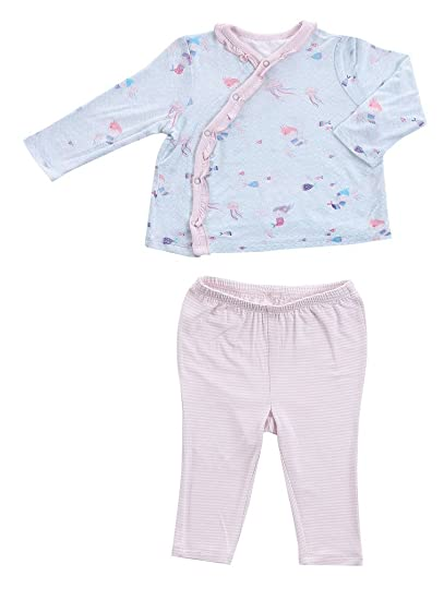 2f9b3c84d Angel Dear Infant 2 Piece Kimono Gift Set Outfit, Little Girls-Mermaid, 6