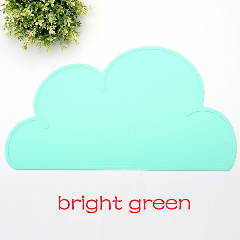 Zehui Cute Cloud Placemat for Baby & Kids Silicone Waterproof Table Mat Healthy Soft Home Kitchen Pads