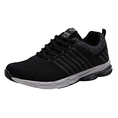 c4189b9467ff5 DOLDOA Men's Big Lace Up Outdoor Sport Running Shoes Mesh Breathable ...
