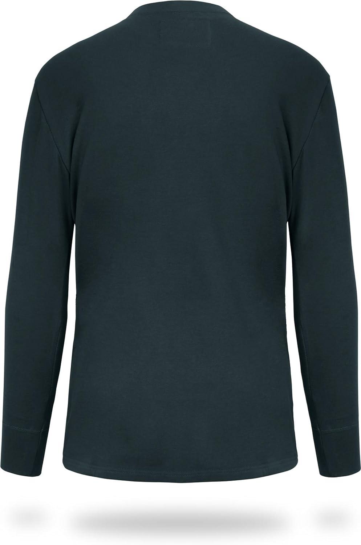 normani Herren Langarm Winter Ski Unterhemd Funktionsshirt mit Pl/üschfutter