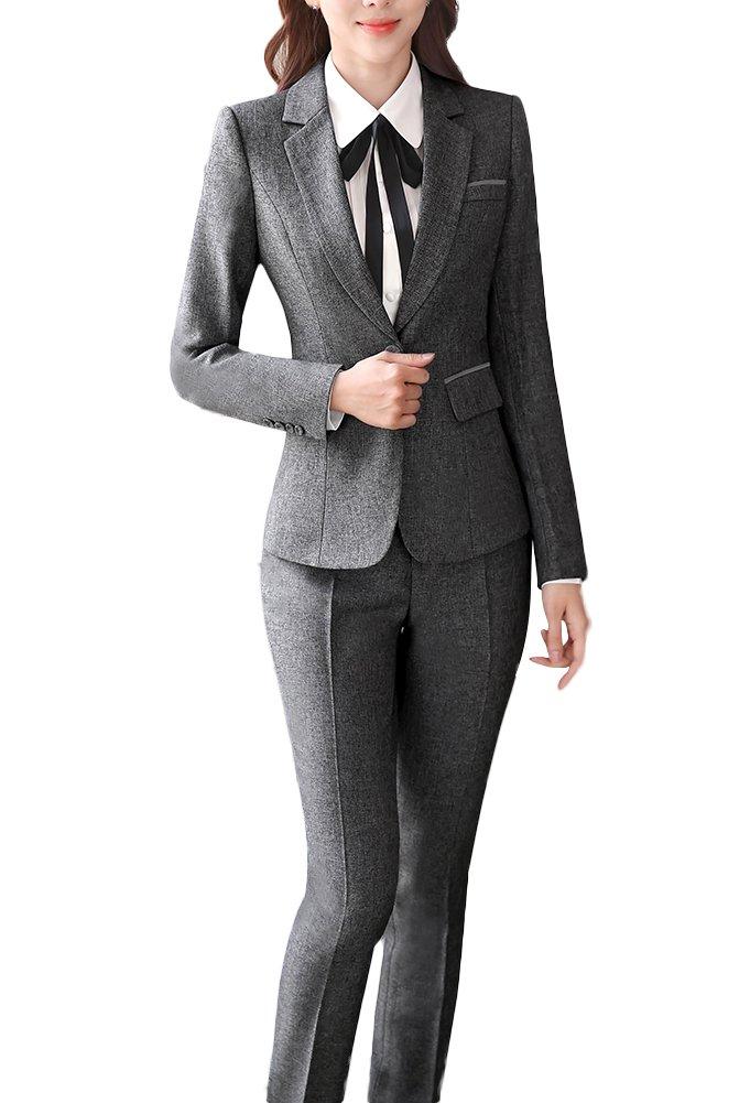SK Studio Damen Business Hosenanzuge Slim Fit Blazer Reverskragen Karriere Hosen Anzug Set SK-O-921