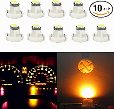 10 X T3 1Smd 1210Led Car Indicator Dashboard Climate Control Switch Lights Blue