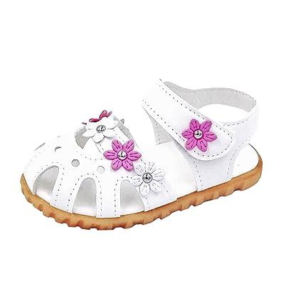 0ca5bd6537f YASSON Sandales Bébé Fille Eté Enfants Chaussure Été Mode Petite Fleur Plat  Pricness Chaussures Tongs Antidérapant