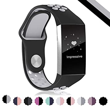 Digitek Strap Compatible Charge 3, Charge 3 Strap Replacement Silicone Band  Adjustable Bracelet, Sport Wristband for Charge 3