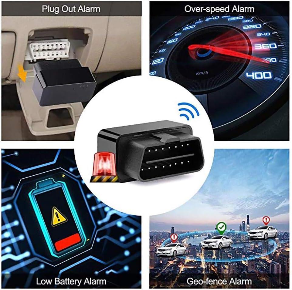 Recharge Gratuite Application Gratuite wisedwell Tracker GPS Voiture Plug and Play Car Tracker Localisateur en Temps r/éel avec SOS Alarm Geo-Fence