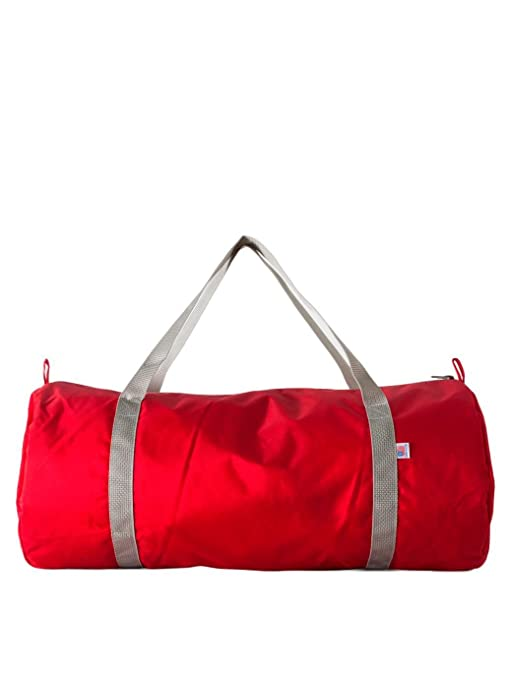 dc5fde64d0b8 American Apparel Nylon Pack Cloth Gym Bag - Red Silver  Amazon.ca  Luggage    Bags