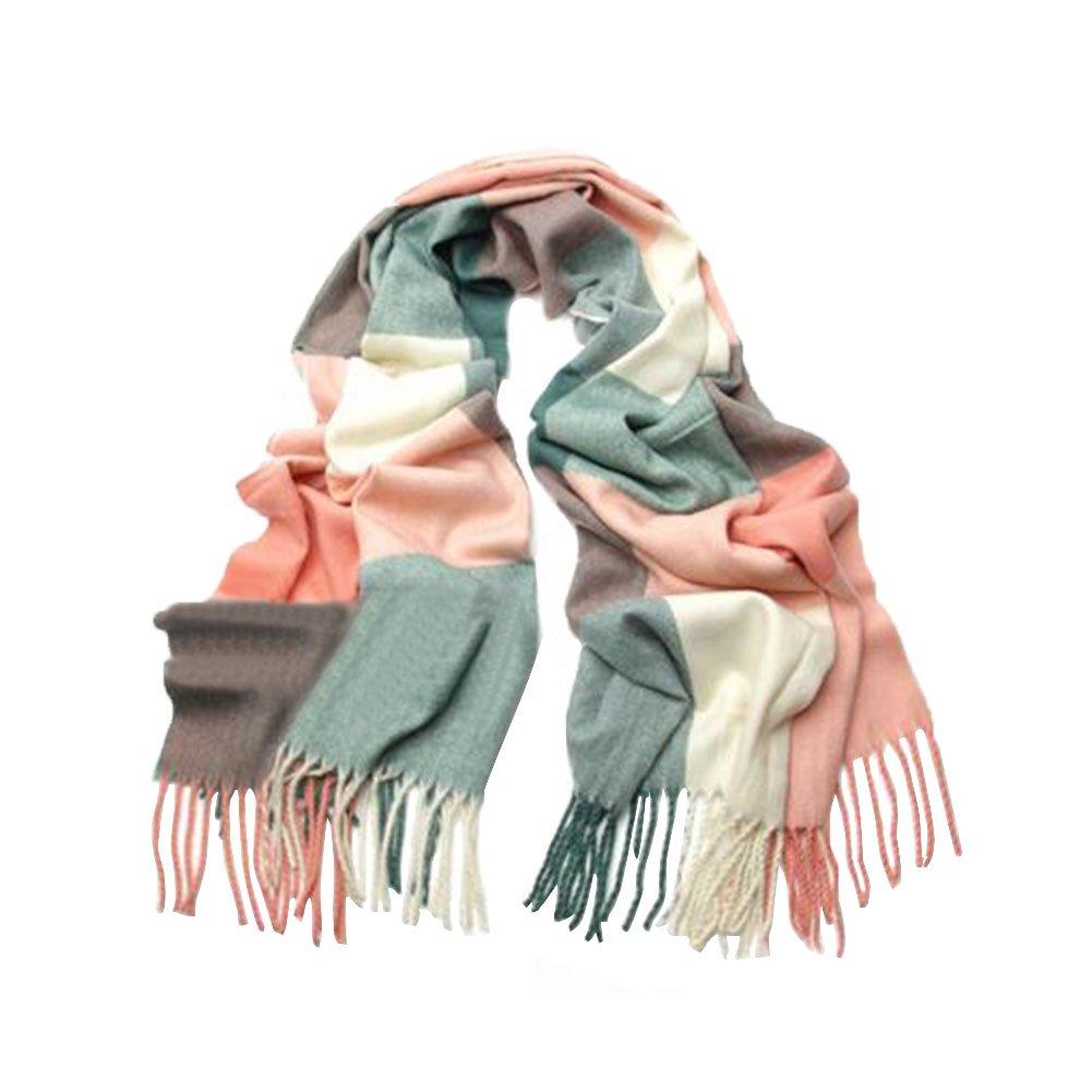 Scrox 1X Pañuelo de señora Mujeres caliente Mantas Cozy bufanda larga enrejado mantón Adecuado para ...