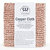 net cloth scrubber - REDECKER Copper Cleaning Cloth, Set of 2, Durable and Non-Abrasive Scrubber, Machine Washable