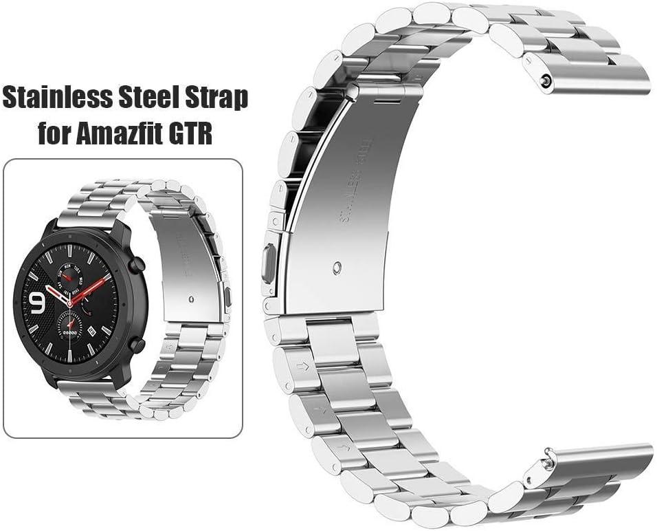 cinturino di ricambio per cinturino con fibbia in acciaio intelligente compatibile con Xiaomi Amazfit GTR Cinturini compatibili con Xiaomi Amazfit GTR 47mm