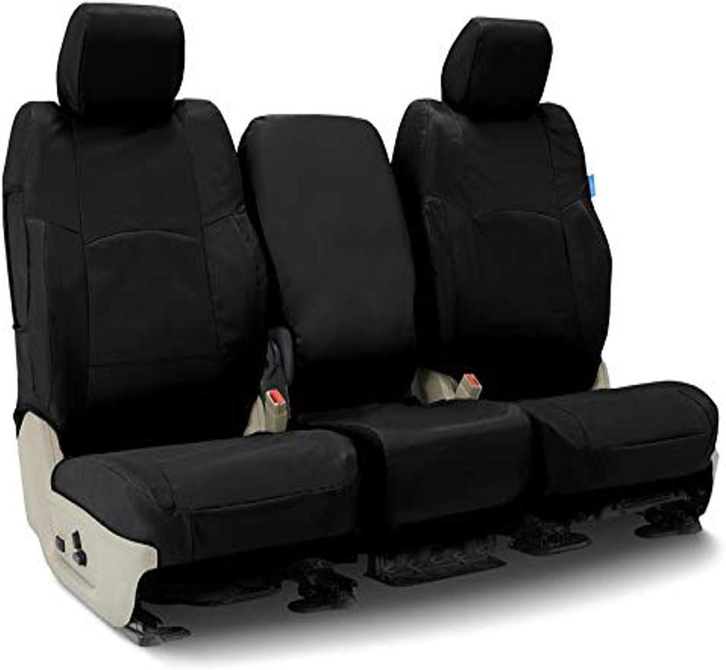 Black Nylon Carpet Coverking Custom Fit Front and Rear Floor Mats for Select Taurus Models CFMBX1FD7343