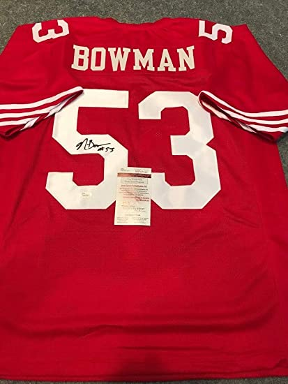 purchase cheap ca1ec d6dbb Navorro Bowman Autographed Signed S.F. 49ers Jersey - JSA ...