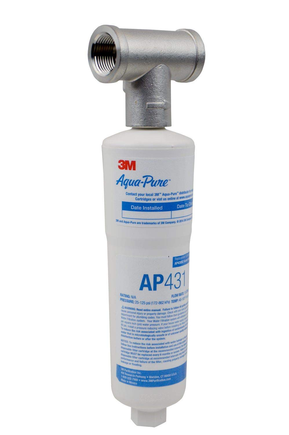 3M Aqua-Pure Whole House Scale Inhibition Inline Water System AP430SS, Helps Prevent Scale Build Up On Hot Water Heaters and Boilers by 3M Aqua-Pure