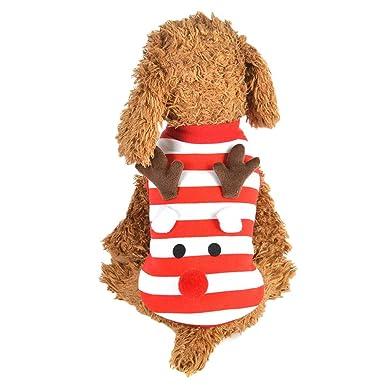 moonper pet dog christmas dress puppy striped style winter warm clothes xmas cute vest xs