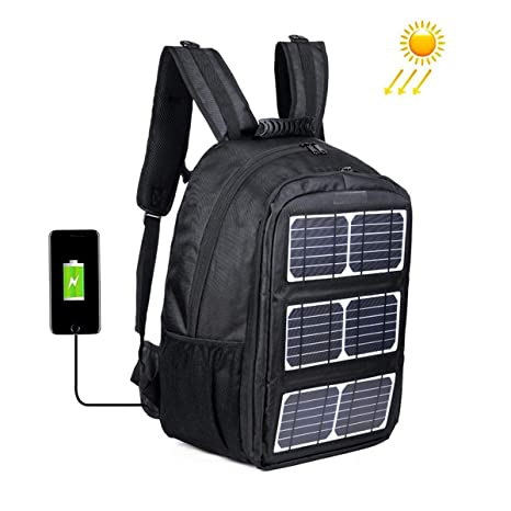 Amazon.com: EFGS 10W Cargador Solar Mochila con Panel Solar ...