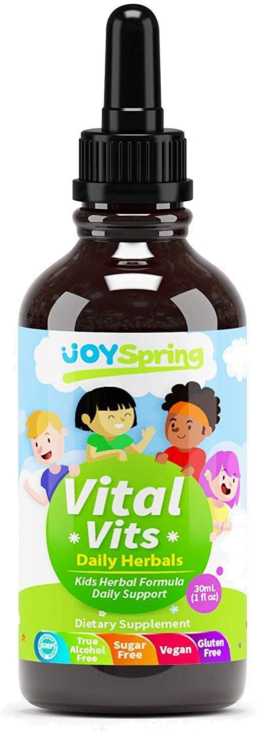 Liquid Organic Vitamins for Kids - Immune System Booster for Kids, Best Immune System Support for Children with Iron