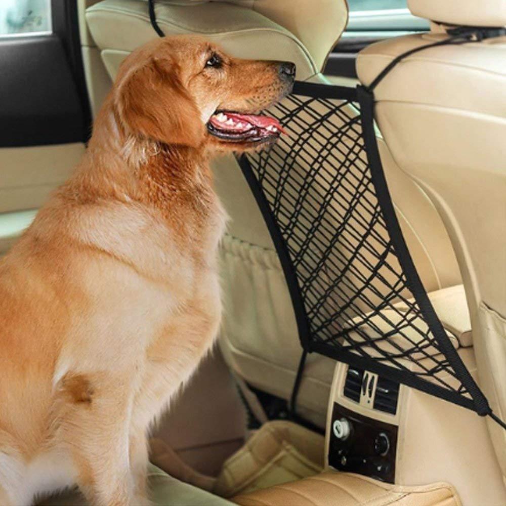 FDBF Car Dog Barrier Seat Net Organizer Universal Stretchy Auto Backseat Storage