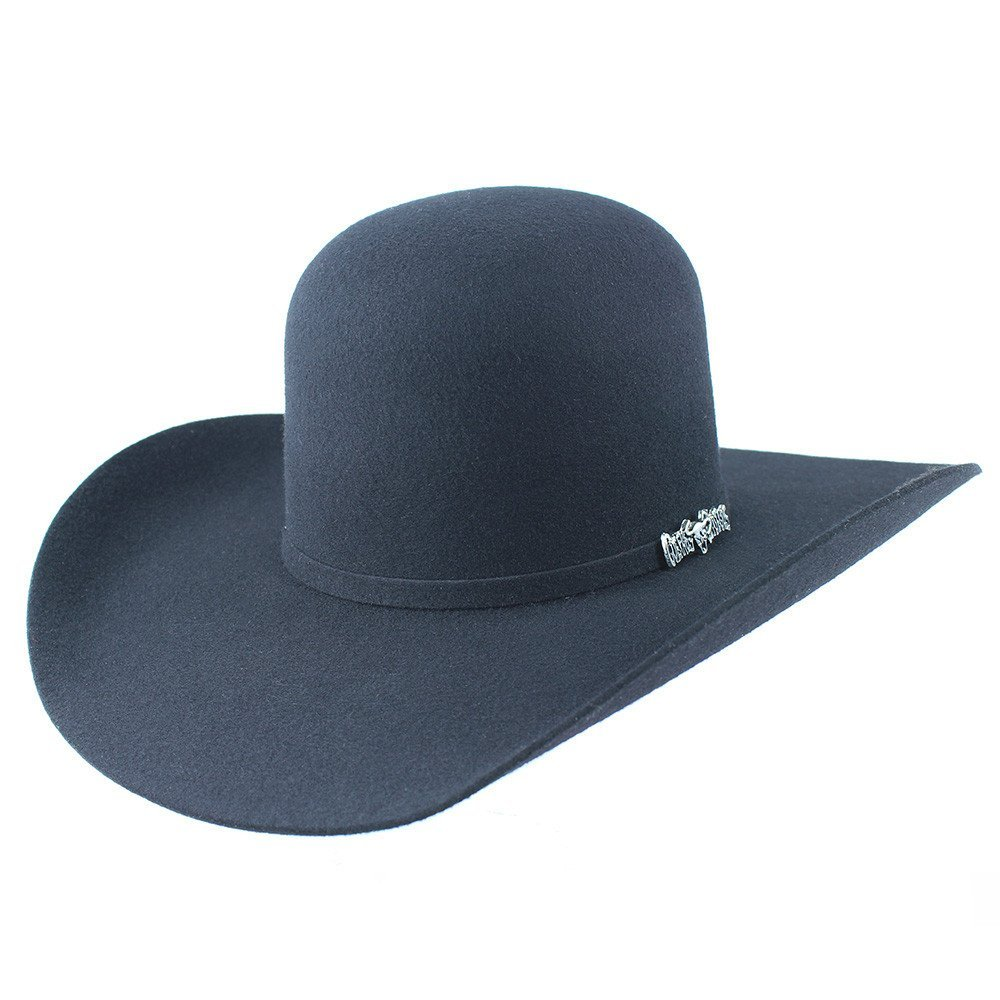 Cuernos Chuecos 3X Open Crown Felt Hat (6 3/4, Black)