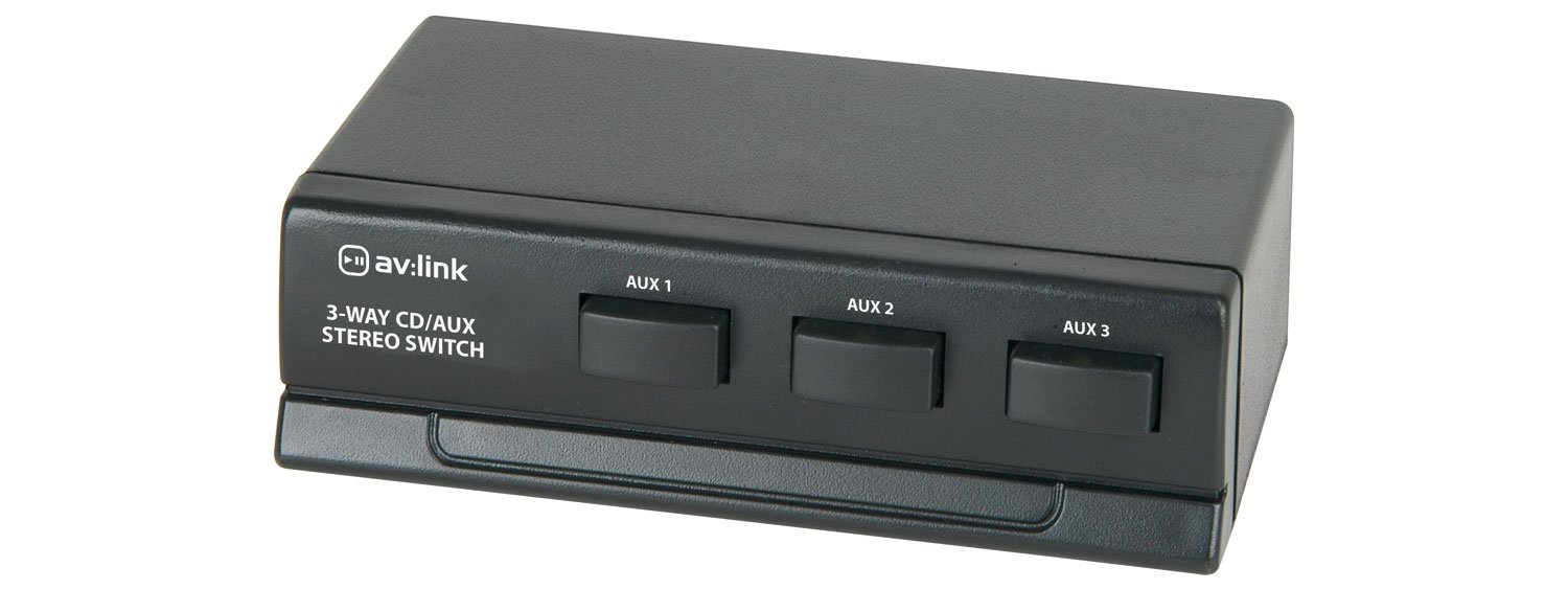 3 Way Cd Aux Stereo Switch Electronics 2 Changeover