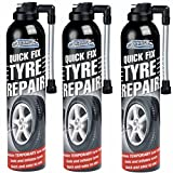 3X EMERGENCY FLAT TYRE FIX SPRAY INFLATE PUNCTURE REPAIR KIT