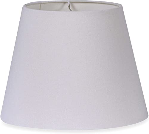 Mix Match Medium 12-Inch Brussels Fabric Lamp Shade in White