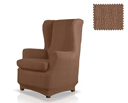 JM Textil Funda de sillón orejero elástica Bastet Tamaño 1 Plaza (Estándar), Color 07