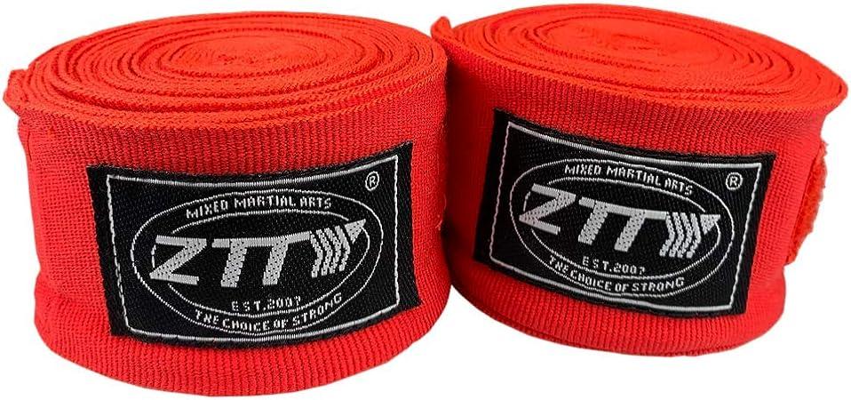 ZTTY - Vendas elásticas de algodón para Boxeo (120 y 180 Pulgadas, 2 Unidades), 180 Inches, Rojo: Amazon.es: Deportes y aire libre