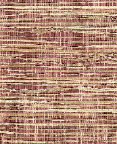 Grass Cloth/Paper- Natural Grass on Burgundy 18x24 Inch Sheet