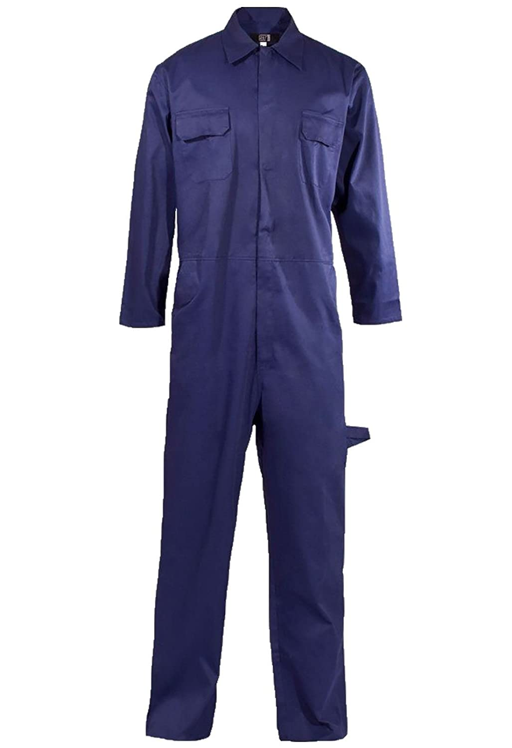 DIGITAL SPOT Adults Work Wear Mechanic Coverall Boilersuit Mens Long Sleeve Polycotton Automotive Overall