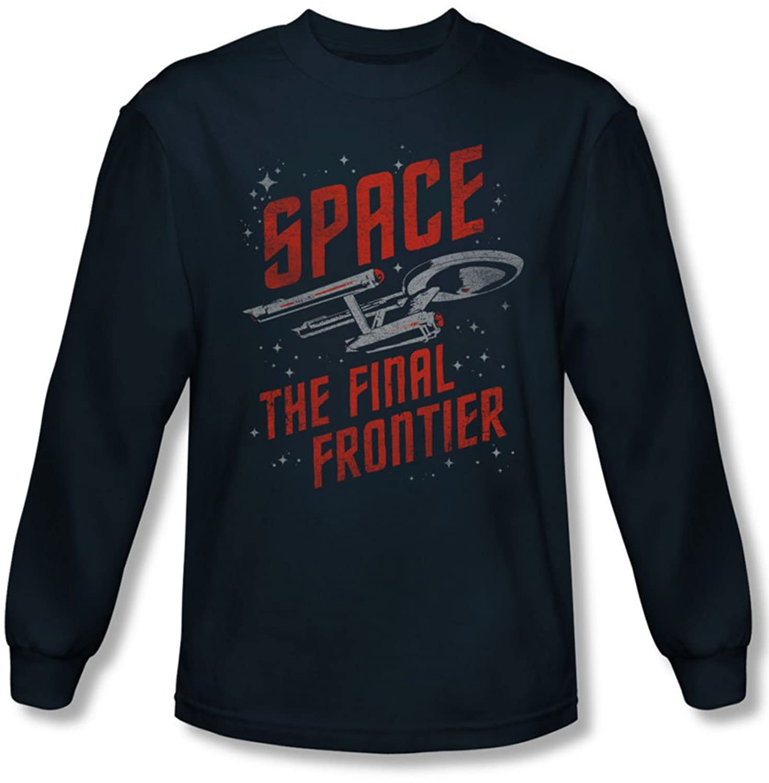 Star Trek - Mens Space Travel Longsleeve T-Shirt