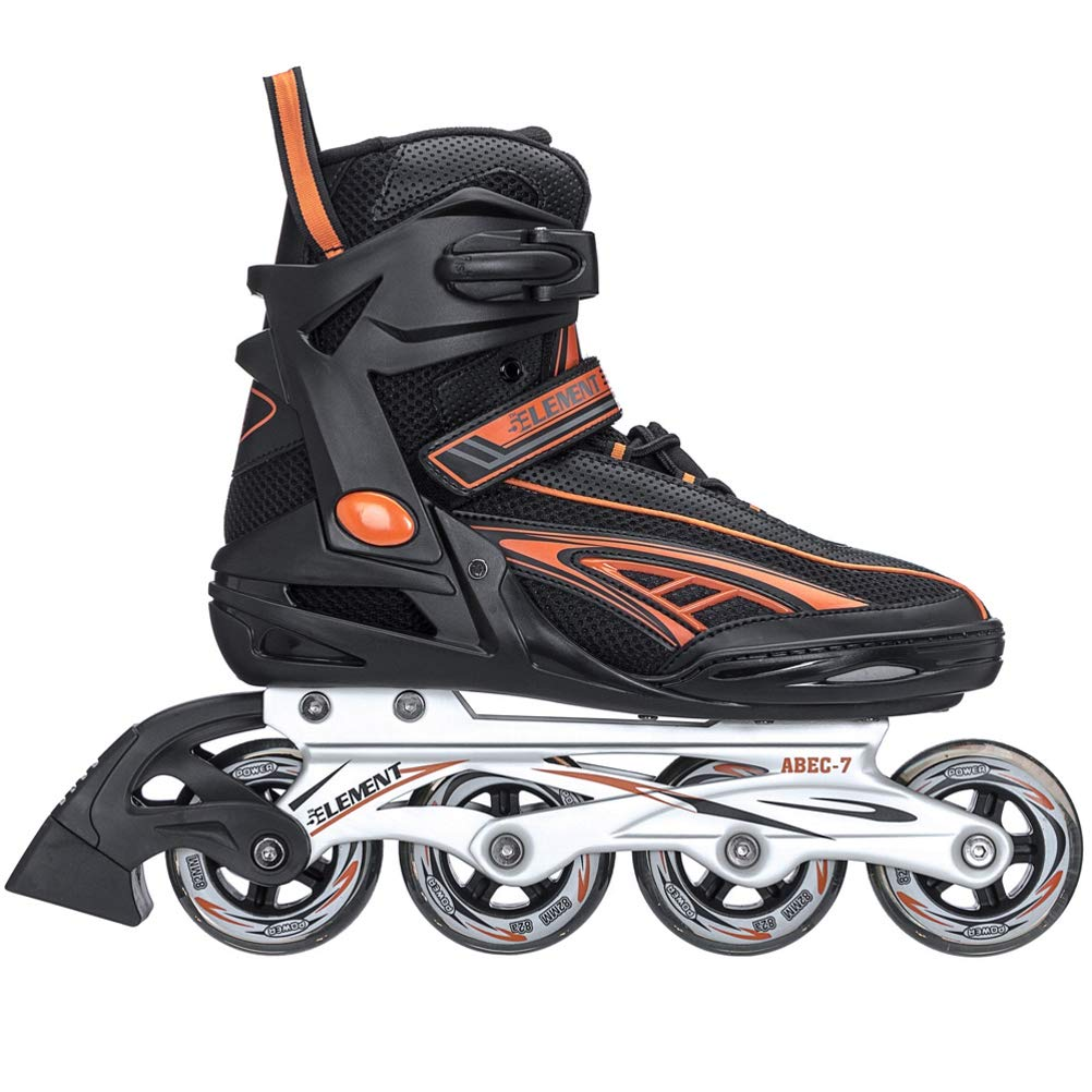 5th Element Panther XT Mens Recreational Inline Skates, Black and White Rollerblades