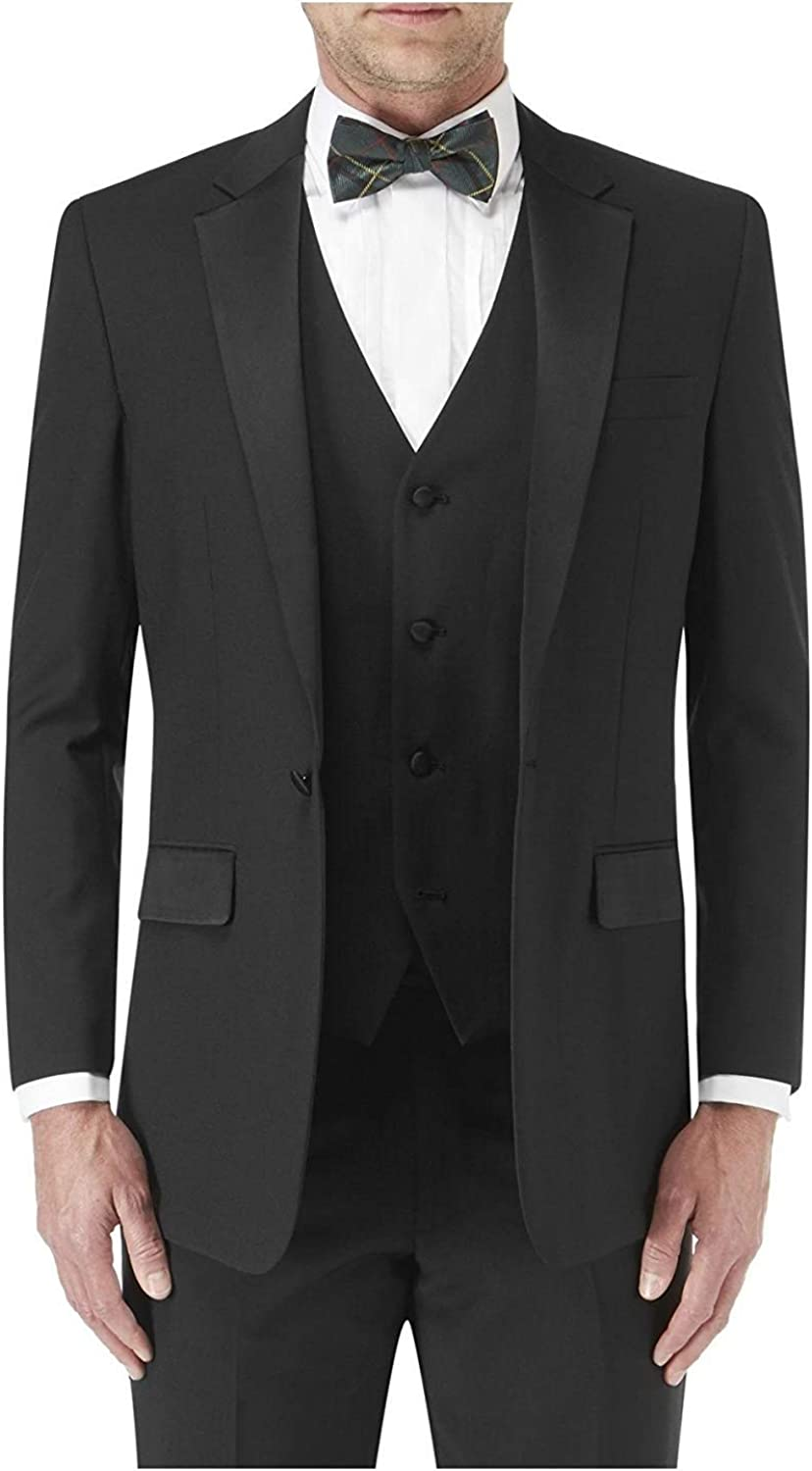 S//R//L Skopes Wool Blend Latimer Dinner Suit Jacket in Black in Size 34 to 62