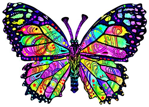 Stained Glass Butterfly Shaped 1000 Pc Jigsaw Puzzle by SunsOut