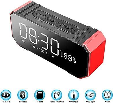 Altavoz Bluetooth portátil - Multi-función Mini radio de audio al aire libre Smart LED Gran pantalla