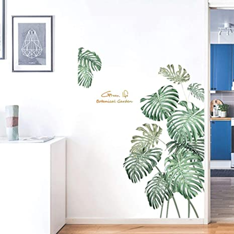 Amazon Com Tropical Plant Wall Decals Palm Leaves Monstera Wall Stickers Removable Peel And Stick Art Murals For Bedroom Living Room Office Classroom Restroom Decoration Green Kitchen Dining Polish your personal project or design with these monstera leaf transparent png images, make it even more personalized and more attractive. tropical plant wall decals palm leaves monstera wall stickers removable peel and stick art murals for bedroom living room office classroom restroom