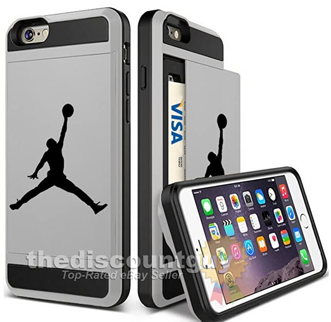 9b85e0b301 Apple iPhone 6/6S Plus - Dual-Layered Credit Card ID Storage Basketball Case