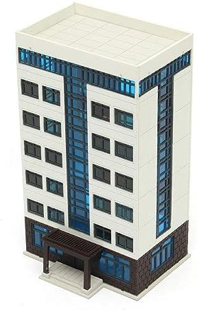 ZAMTAC Apartamento Edificio DIY ensamblaje Modelo Ciudad Calle Centro Paisaje diseño Juguete Escala 1:144 N Modelo de construcción: Amazon.es: Hogar
